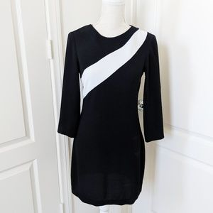 Zara Black and White Long Sleeve Dress.